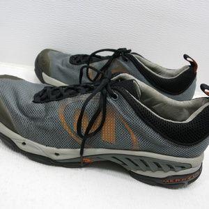 Merrell Shoes - Helium Ventilator Dark Gray Orange Sneakers